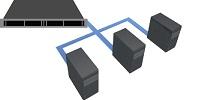 遠隔地リモートデータバックアップサービスは、社内サーバーの被害に伴うデータ損失・消失のリスク分散に最適です。
